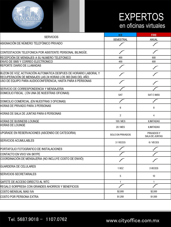 Plan black oficinas virtuales mexico df wtc for Oficinas virtuales mexico df